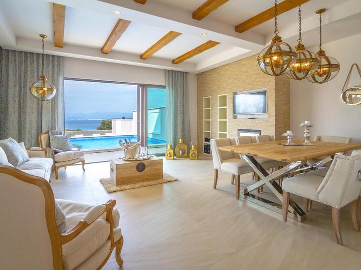 Malinska appartamento con piscina isola Krk